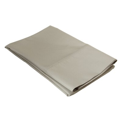 Ginther Cotton Blend 600 Thread Count Solid Pillowcase Size: King, Color: Stone