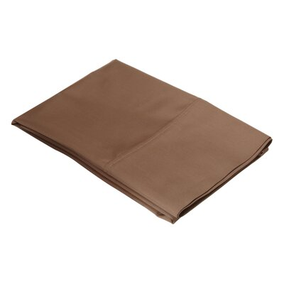 Ginther Cotton Blend 600 Thread Count Solid Pillowcase Size: King, Color: Taupe