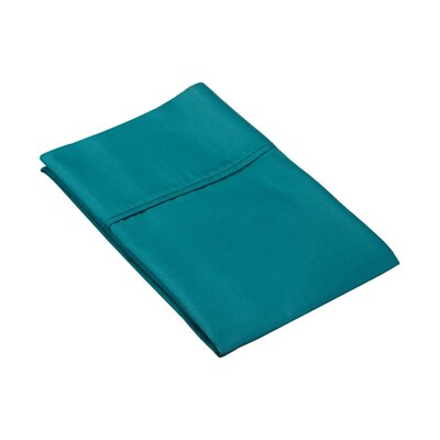 Ginther Cotton Blend 600 Thread Count Solid Pillowcase Color: Teal, Size: Full / Queen