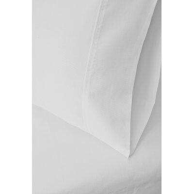 Ginsberg 400 Thread Count Solid Pillowcase Color: White, Size: Standard