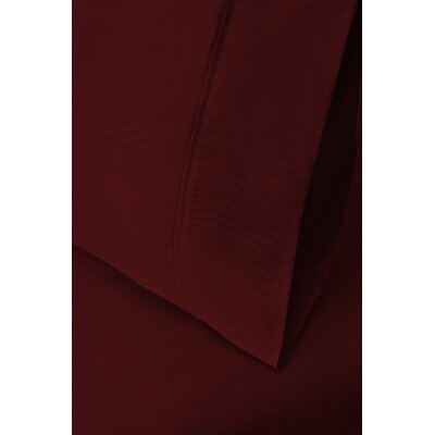 Ginsberg 400 Thread Count Solid Pillowcase Size: King, Color: Burgundy