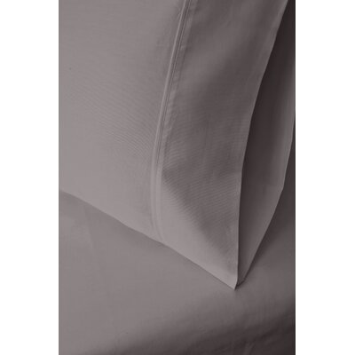 Ginsberg 400 Thread Count Solid Pillowcase Size: King, Color: Gray