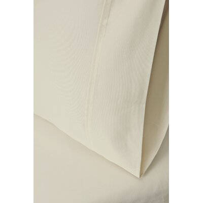 Ginsberg 400 Thread Count Solid Pillowcase Size: King, Color: Ivory