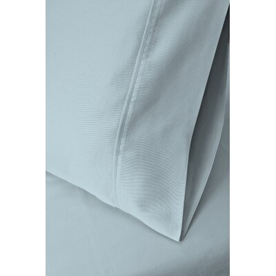 Ginsberg 400 Thread Count Solid Pillowcase Size: King, Color: Light Blue