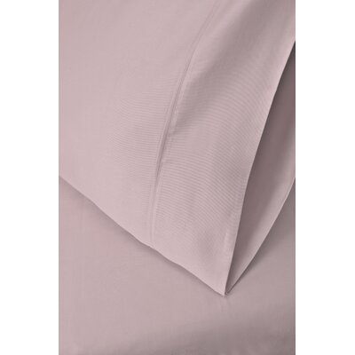 Ginsberg 400 Thread Count Solid Pillowcase Size: King, Color: Lilac