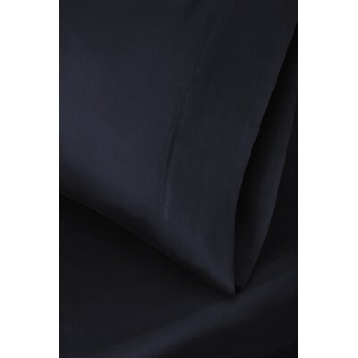 Ginsberg 400 Thread Count Solid Pillowcase Size: King, Color: Navy Blue