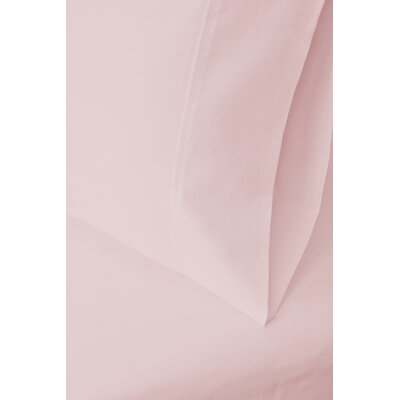 Ginsberg 400 Thread Count Solid Pillowcase Size: King, Color: Pink