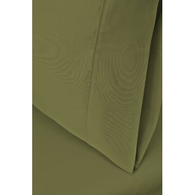 Ginsberg 400 Thread Count Solid Pillowcase Size: King, Color: Sage