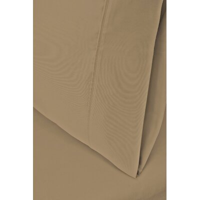 Ginsberg 400 Thread Count Solid Pillowcase Size: King, Color: Tan
