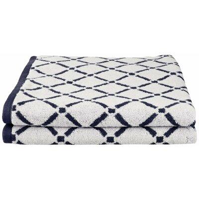 Larksville Luxurious Diamonds Bath Towel Color: Charcoal/White