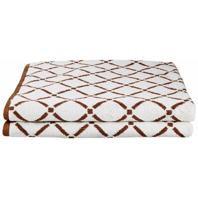 Luxurious Diamonds Bath Towel Color: Chocolate/Cream