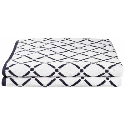 Luxurious Diamonds Bath Towel Color: Charcoal/White