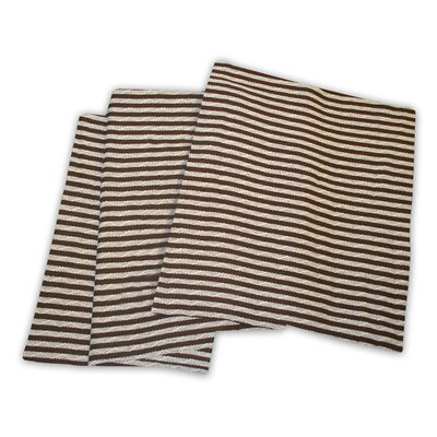 Dores All-Season Cotton Blanket Color: Ivory / Chocolate, Size: Twin / Twin XL