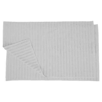 Charo Lined Bath Rug Set Color: Silver