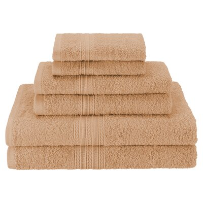 Patric Soft 6 Piece Towel Set Color: Camel