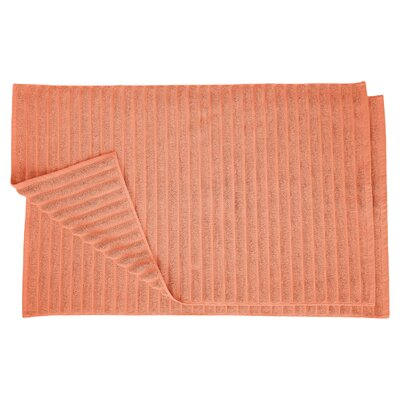 Charo Lined Bath Rug Set Color: Coral