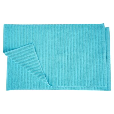 Charo Lined Bath Rug Set Color: Turquoise