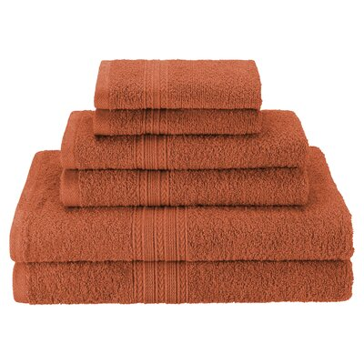 Patric Soft 6 Piece Towel Set Color: Copper