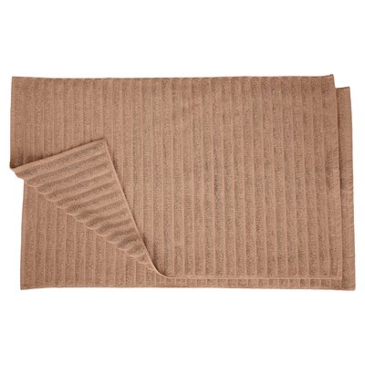 Charo Lined Bath Rug Set Color: Coffee