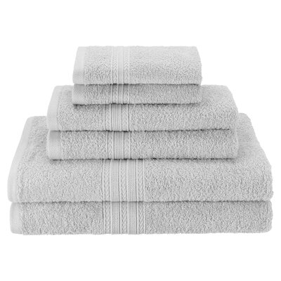 Patric Soft 6 Piece Towel Set Color: Silver