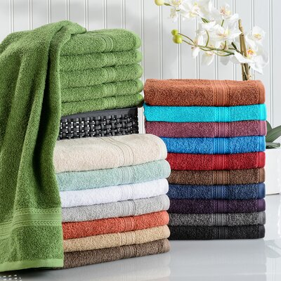 Simple Luxury Superior Hand Towel (Set of 6) - Color: Coral