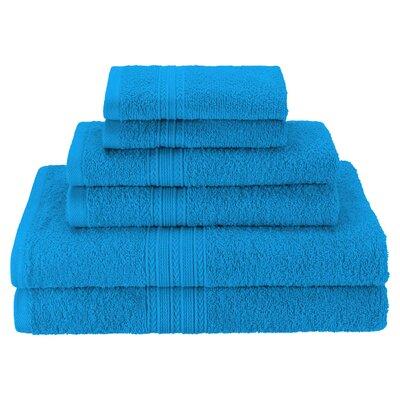 Patric Soft 6 Piece Towel Set Color: Aster Blue