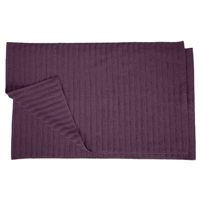 Charo Lined Bath Rug Set Color: Eggplant
