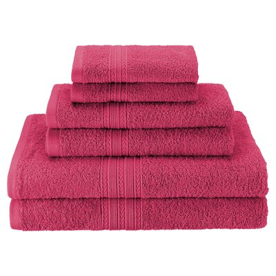 Patric Soft 6 Piece Towel Set Color: Rosewood