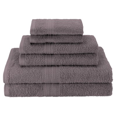 Patric Soft 6 Piece Towel Set Color: Graphite