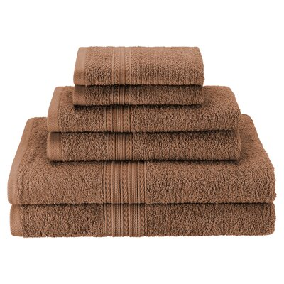 Patric Soft 6 Piece Towel Set Color: Coffee