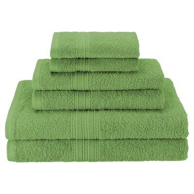 Patric Soft 6 Piece Towel Set Color: Terrace Green