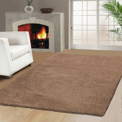 Catharine Hand-Woven Beige Area Rug Rug Size: 5 x 8
