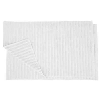 Charo Lined Bath Rug Set Color: White