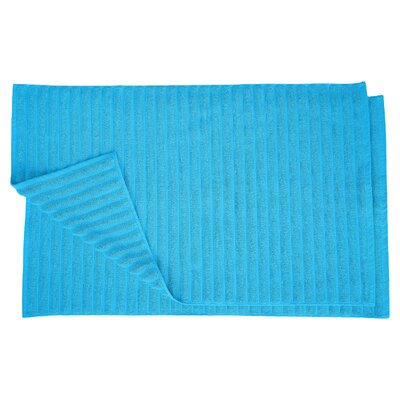 Charo Lined Bath Rug Set Color: Aster Blue