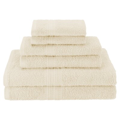 Hyde 6 Piece Cotton Towel Set Color: Ivory