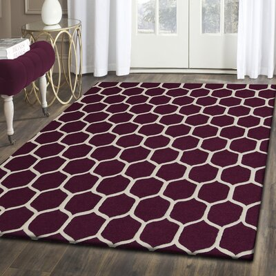Dewar Hand-Tufted Brown/Ivory Area Rug