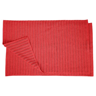Charo Lined Bath Rug Set Color: Cranberry