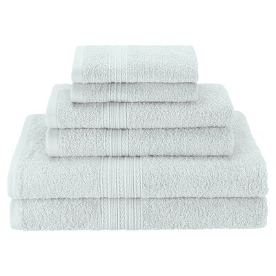 Patric Soft 6 Piece Towel Set Color: Aqua Marine
