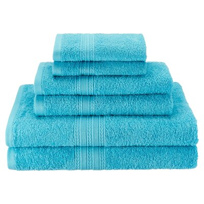 Patric Soft 6 Piece Towel Set Color: Turquoise