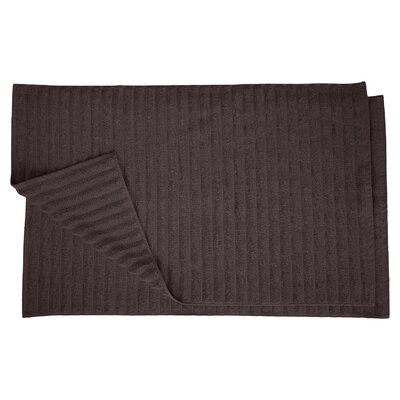 Charo Lined Bath Rug Set Color: Black
