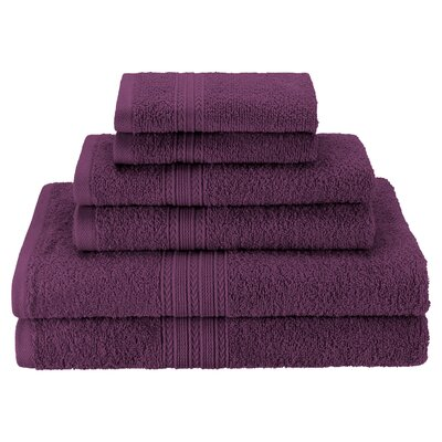 Patric Soft 6 Piece Towel Set Color: Eggplant
