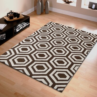 Algarve Hand-Tufted Brown/Ivory Area Rug