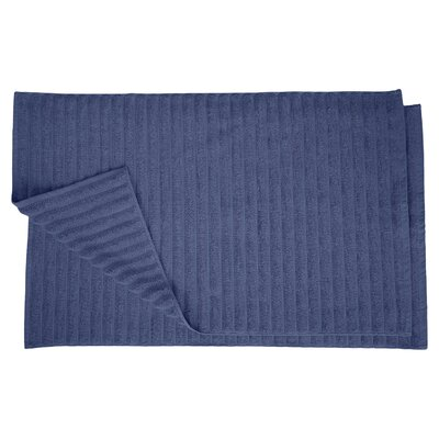 Charo Lined Bath Rug Set Color: Navy Blue