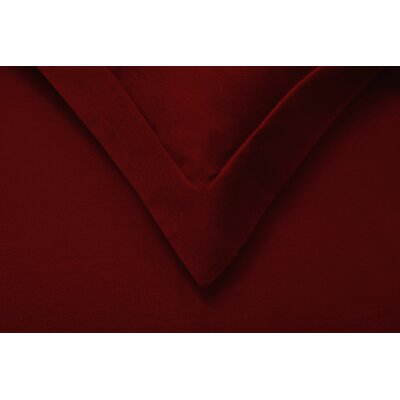 Reversible Duvet Cover Set Color: Burgundy, Size: Twin