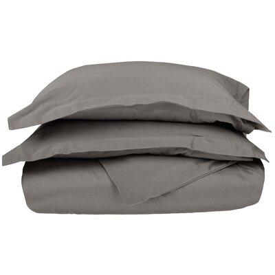 3 Piece Stripe Duvet Cover Set Size: Full / Queen, Color: Gray