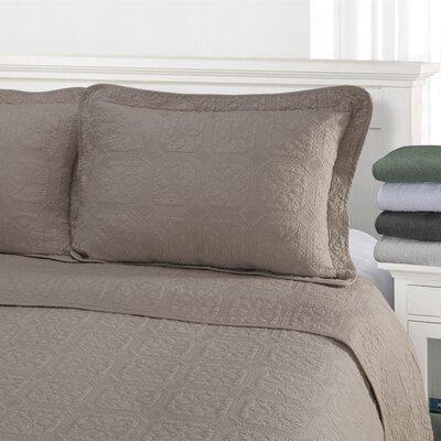 Corrington Quilt Set Color: Charcoal, Size: King