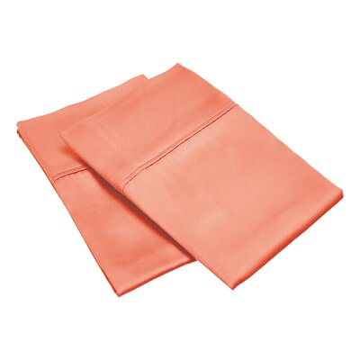 300 Thread Count Solid Pillowcase Size: King, Color: Coral