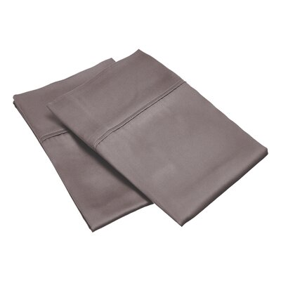 300 Thread Count Solid Pillowcase Color: Gray, Size: Standard