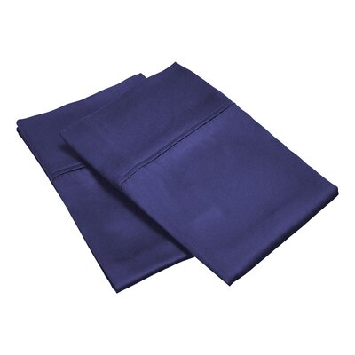 300 Thread Count Solid Pillowcase Size: Standard, Color: Navy Blue