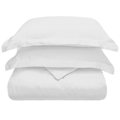 3 Piece Duvet Cover Set Size: Full/Queen, Color: White